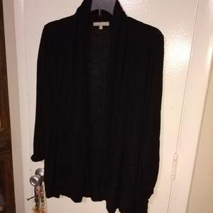 Black Open Sweater Sz Large